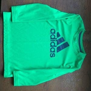 Boys Adidas dry sport long sleeve shirt.